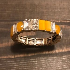 J Crew Orange Gold Stretch Bracelet